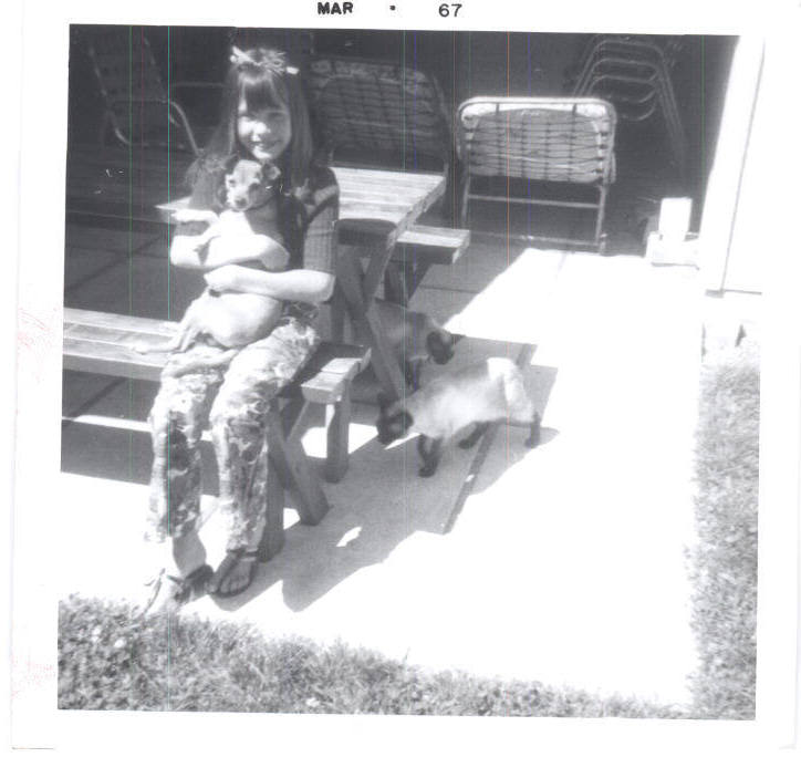 Auggie and my sister Tammy, 03/1967